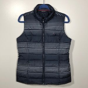 Tommy Hilfiger Puff Vest - Navy with Polka Dots